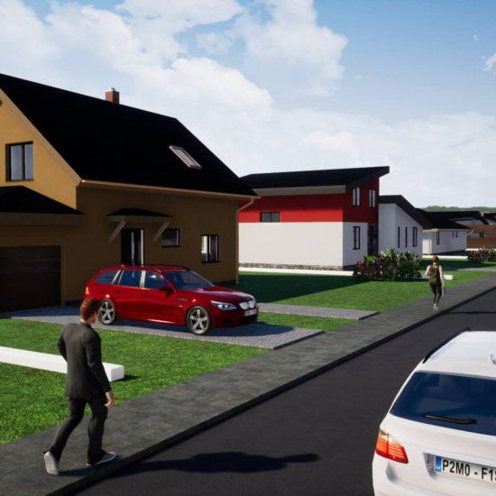 Vizualizace rodinných domů v Mohelnici